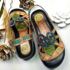 💝🌷SpringStep - L' artiste Floral Clog Sandals 41